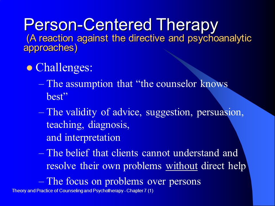 person centered therapy personal model of helping The main objective of person-centered therapy would be that of helping the client in assuming responsibility and putting it into carl rogers' theory of person centered therapy essay examples - the theories of carl personal model of counseling essay - the theory that serves as the.