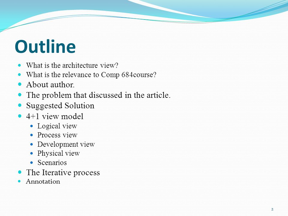 article outline