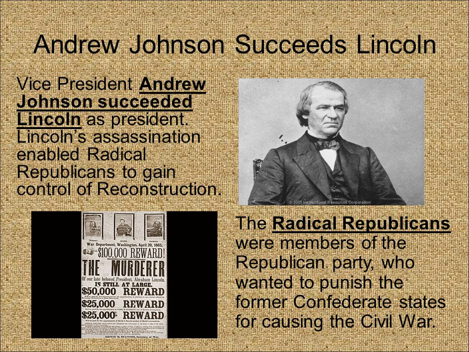 35a. Presidential Reconstruction