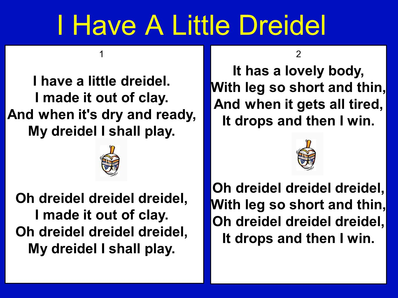 Everything you should know about chanukah by steve brenner ppt i have a little dreidel it has a lovely body biocorpaavc