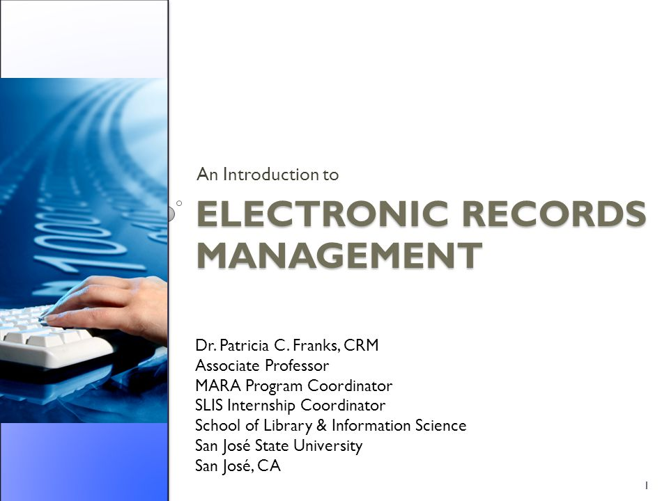 Electronic Records Management - ppt download