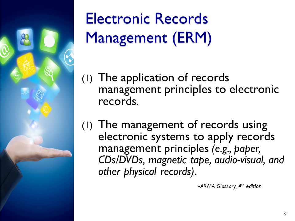 electronic record management system thesis `review of related literature  states that the management of both physical and electronic records plays a big role  patient record management system.