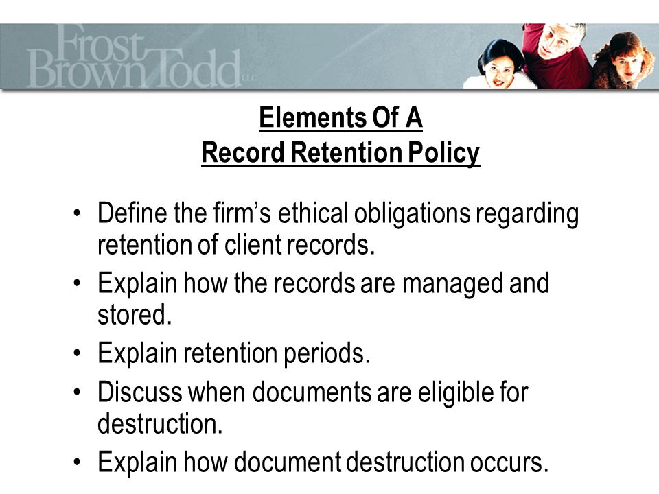 Why Record RetentionDestruction Is Important  Ppt Download