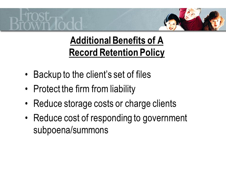 Why Record Retention/Destruction Is Important? - Ppt Download