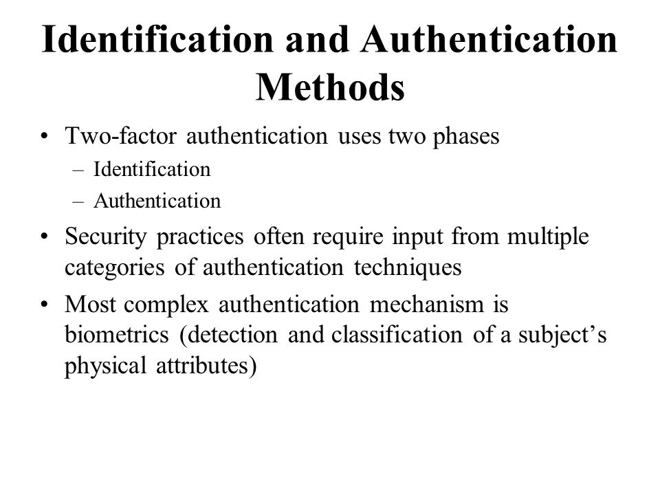 identification authentication and authorization techniques The authentication of a user involves the verification of the provided credentials against those present in the database authorization is the process by which a system determines whether the user possesses substantial enough privileges to access the requested resources or not, and access control is the process by which access to those .