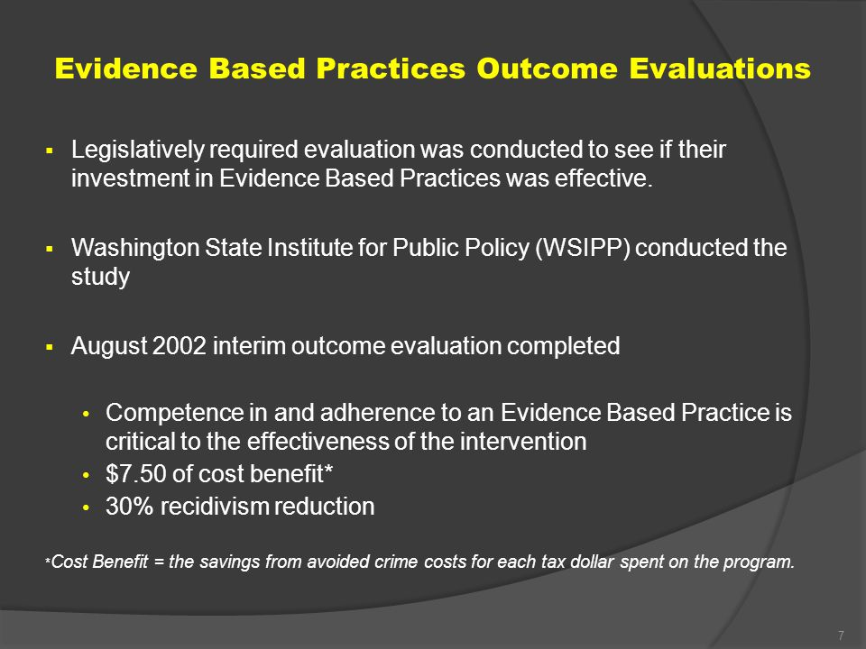 evidence based practice and its benefits The idea behind the use of evidence-based practice or evidence-based healthcare is that it comes from 3 combined aspects benefits of ebp benefits of ebp.