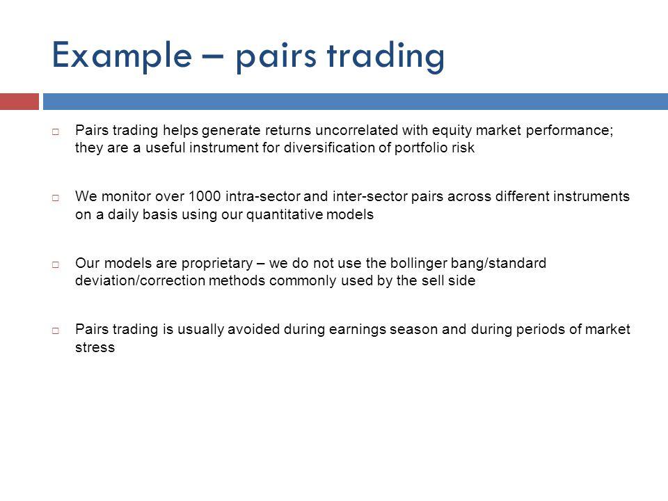 Examples pair trading strategies