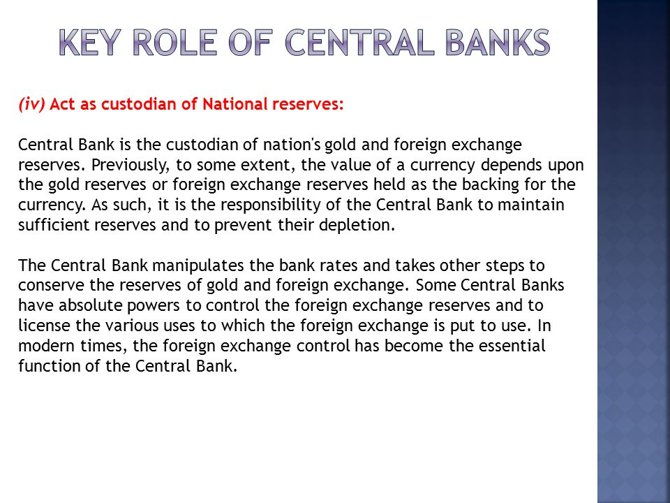 Central Bank and It's Functions