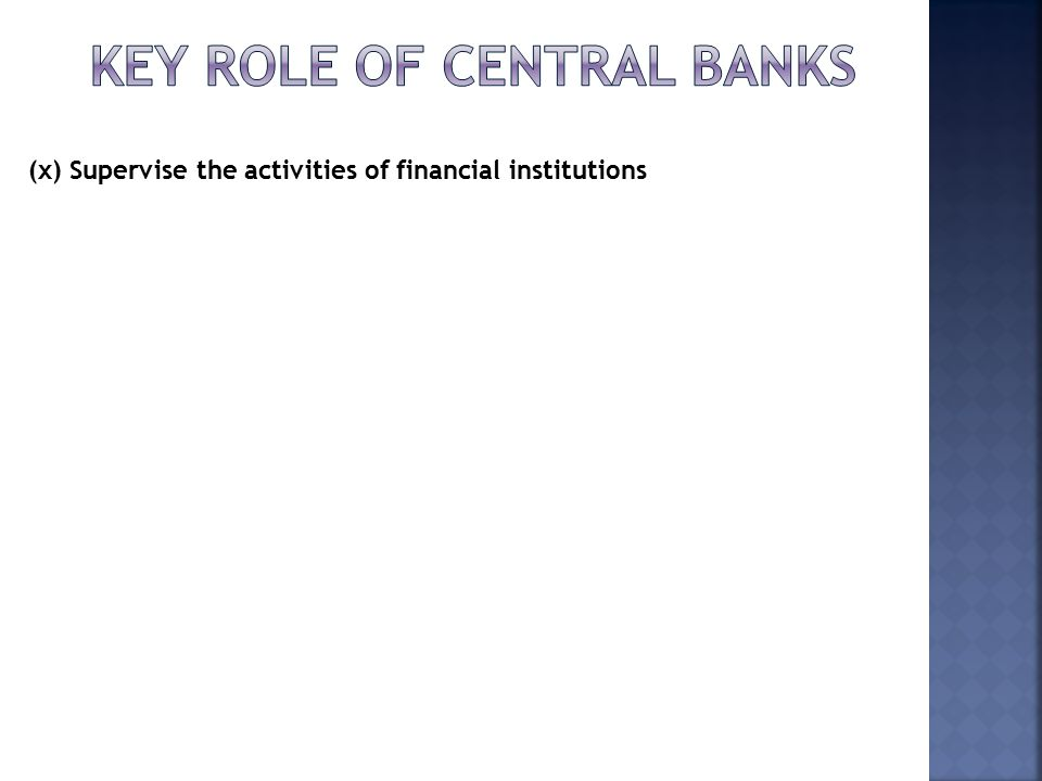 the role of central bank in The central bank is also working to maintain a fixed exchange rate of the dirham against the us dollar and to ensure the free convertibility of the national currency into foreign currencies, in addition to its role as bank of banks and the government's bank and its financial adviser.