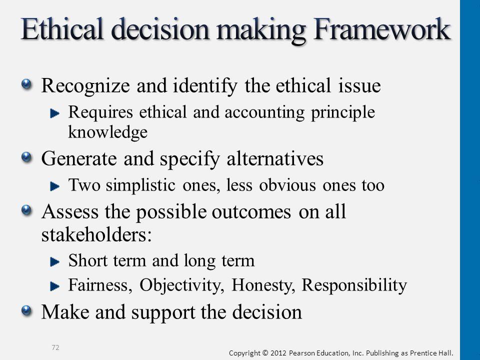 ethical decision making framework pdf
