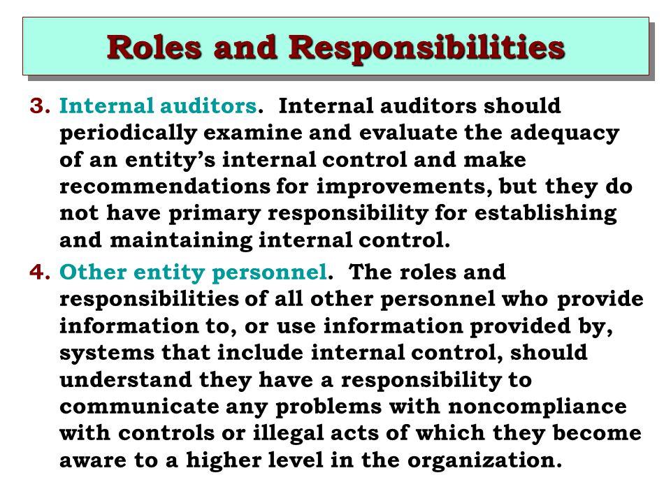 roles and responsibilties