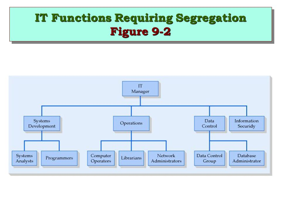 IT Functions Requiring Segregation Figure 9-2