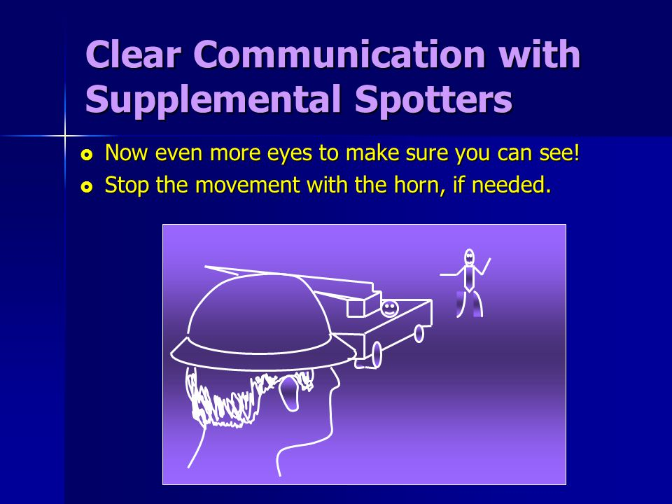 Clear Communication with Supplemental Spotters