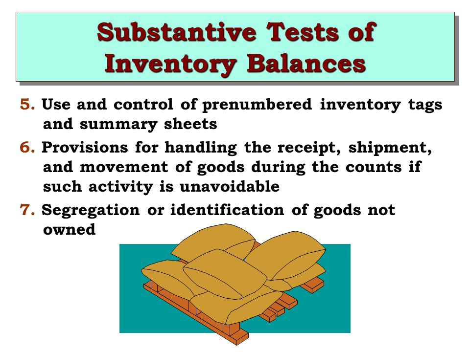 substantive tests for cash balances Further audit procedures include tests of controls and substantive  is that of  tracing and agreeing the balances selected to after date cash.
