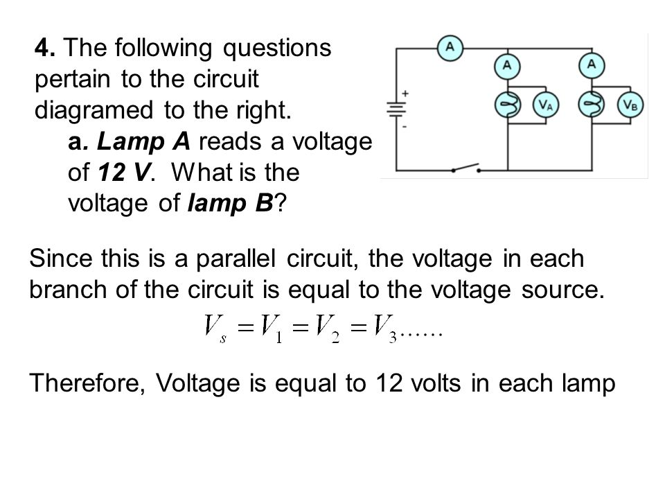 4. The following questions pertain to the circuit diagramed to the right.