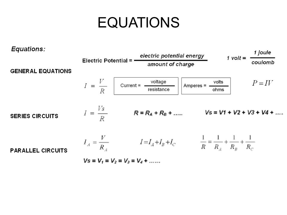 Worksheets Ohms Law Worksheet worksheet circuits and ohms law ppt download 2 equations