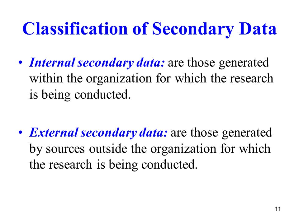 external secondary research Brief notes on internal and external sources of data what are data statistical data are a numerical statement of aggregates data, generally, are obtained.