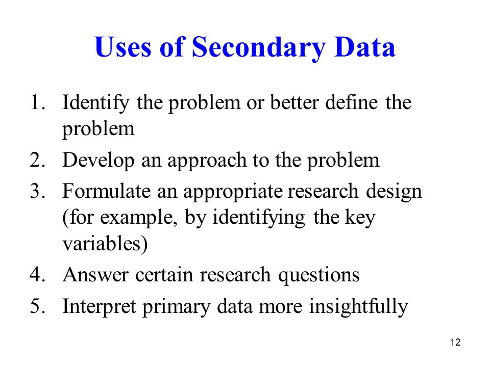 secondary research define