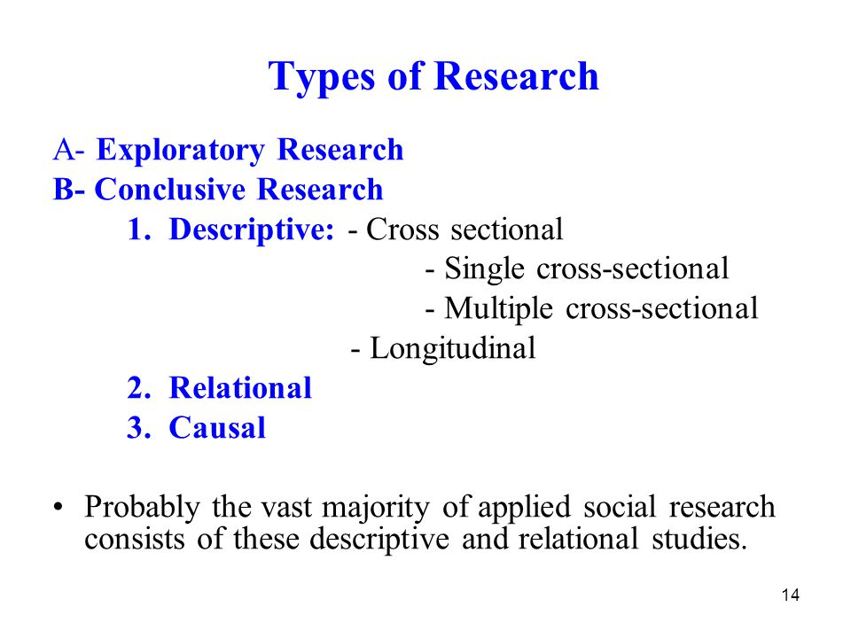 types of research exploratory A research design is a framework that has been created to find  this probability is known as α-level or the probability of a type i error exploratory research,.
