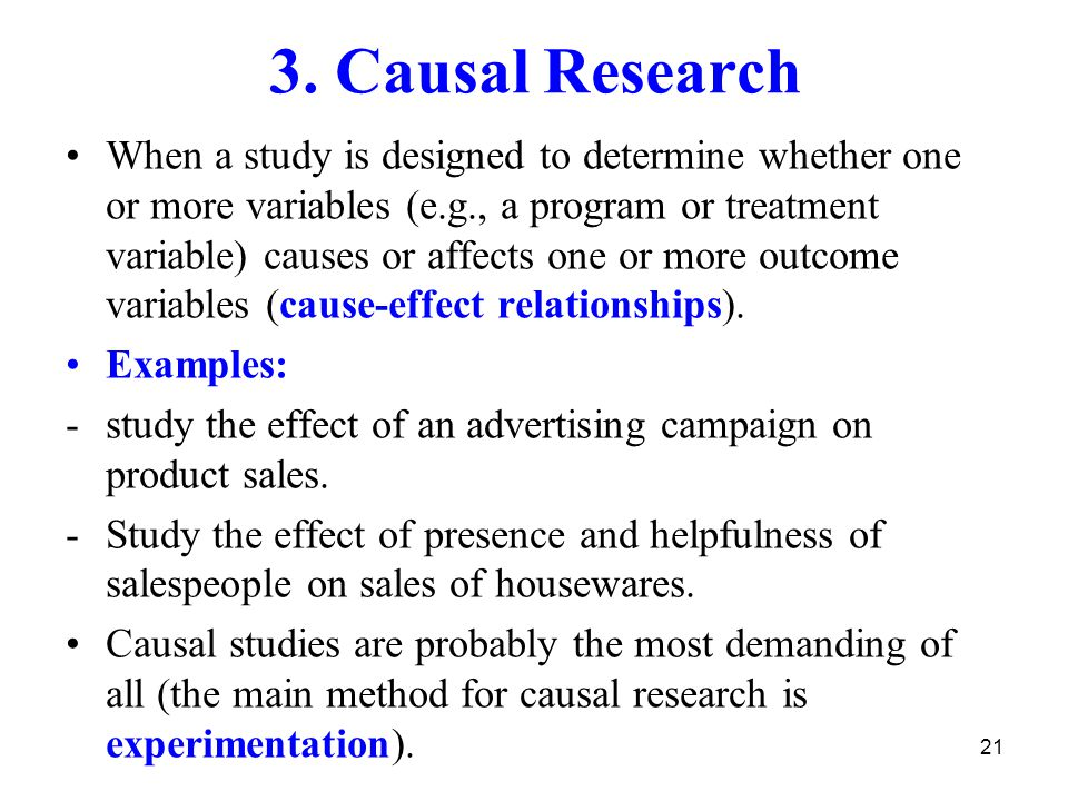 What Is an Example of Causal Research? | Reference.com