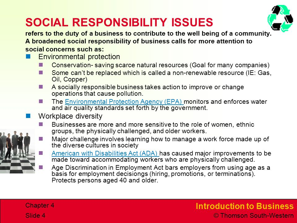 Social Responsibility of Business and Government - ppt ...