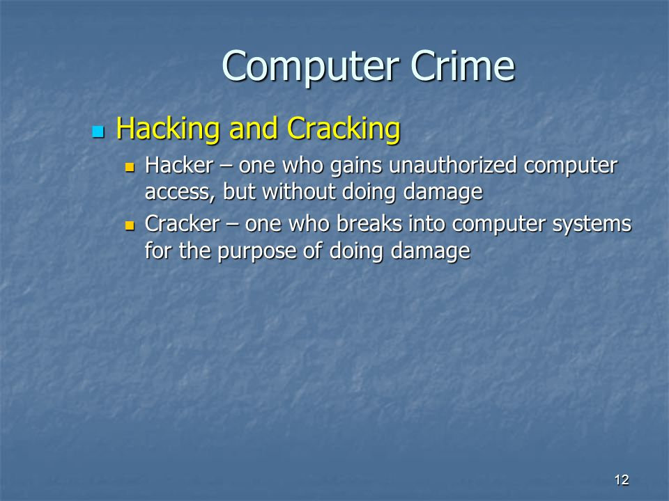 hacking phreaking piracy and viruses computer crime Hacking essay examples  hacking, phreaking, piracy, and viruses - computer crime  an analysis of the computer crime during the 1970's and the research by.