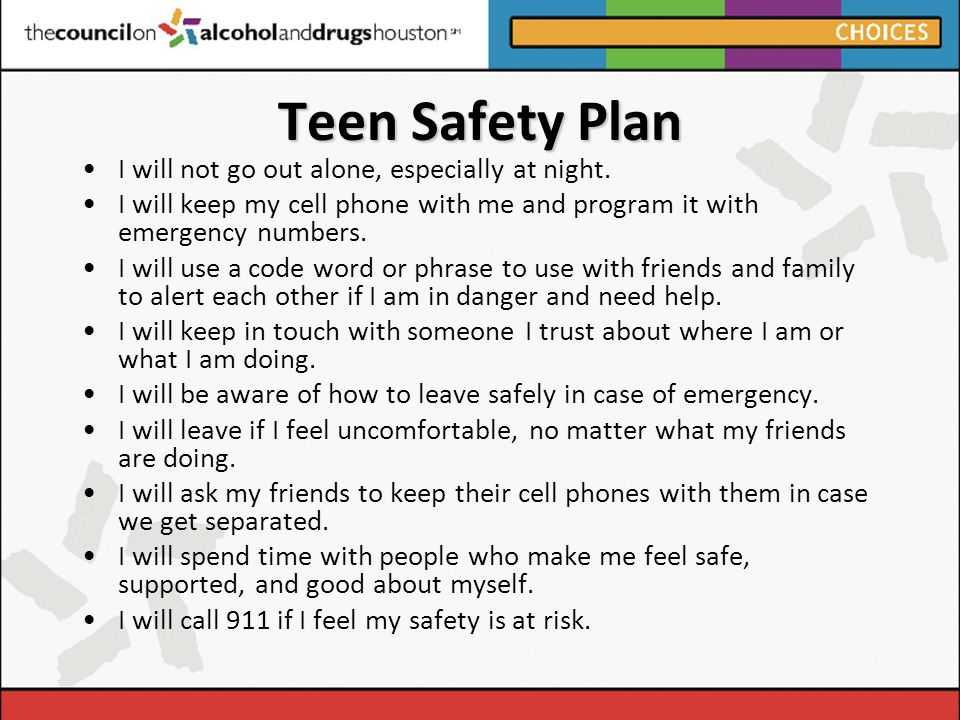 Teen Safety Plan Program 43