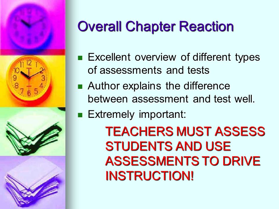 Chapter  Testing Assessing And Teaching  Ppt Video Online Download