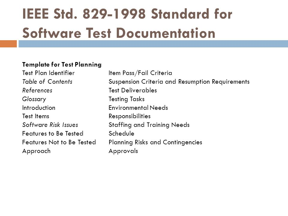 Test plan ppt download for Software testing document template
