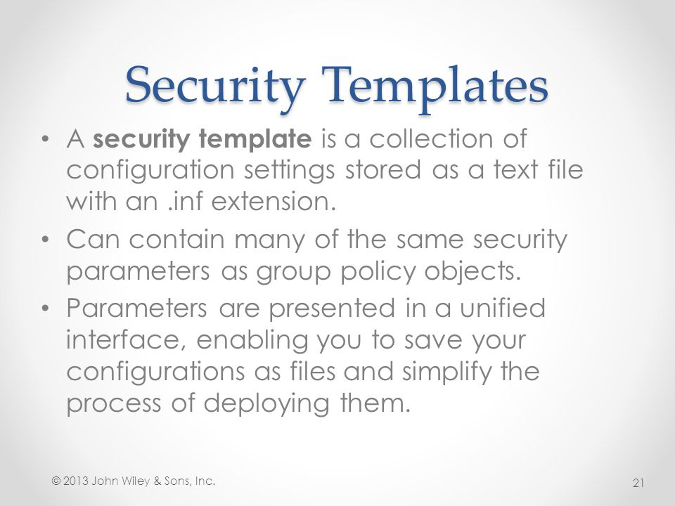 Lesson 17: Configuring Security Policies - Ppt Video Online Download