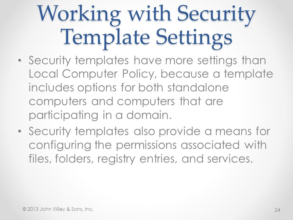 Lesson 17 Configuring Security Policies ppt download – It Security Policy Template