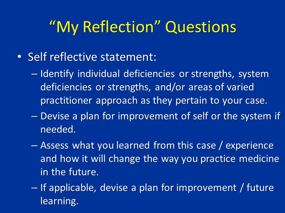 reflection on my personal strengths One of my favourite characteristics in a person is the ability to be aware of their own strengths and weaknesses not only does this awareness reflect humility and self-work, but it also.