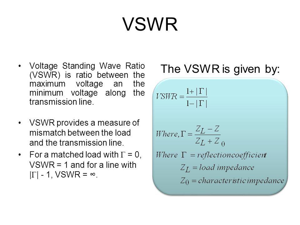voltage standing wave ratio pdf