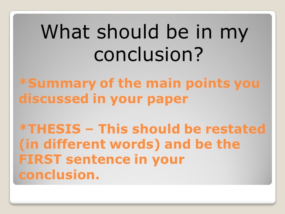 how long should your dissertation conclusion be Examples of dissertation & thesis structure  discussion and conclusion(s)   and conclusion - all chapters should be the same length, and recommends.