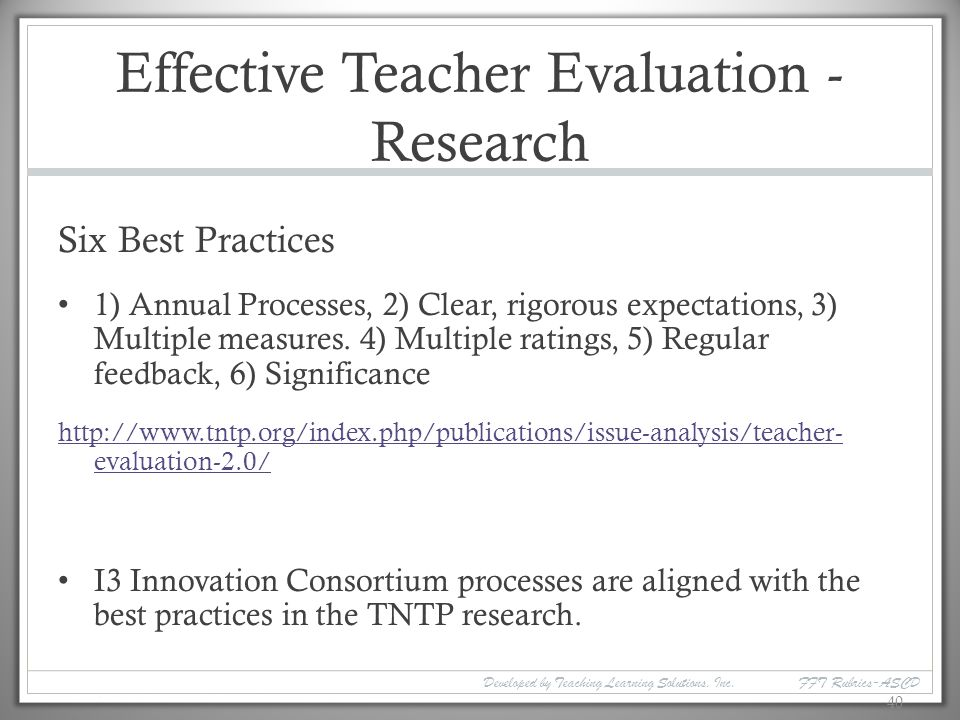 measures of effective teaching research paper This report is based on a study on the implementation of teacher and principal  performance measures highlighted by recent research, as well.