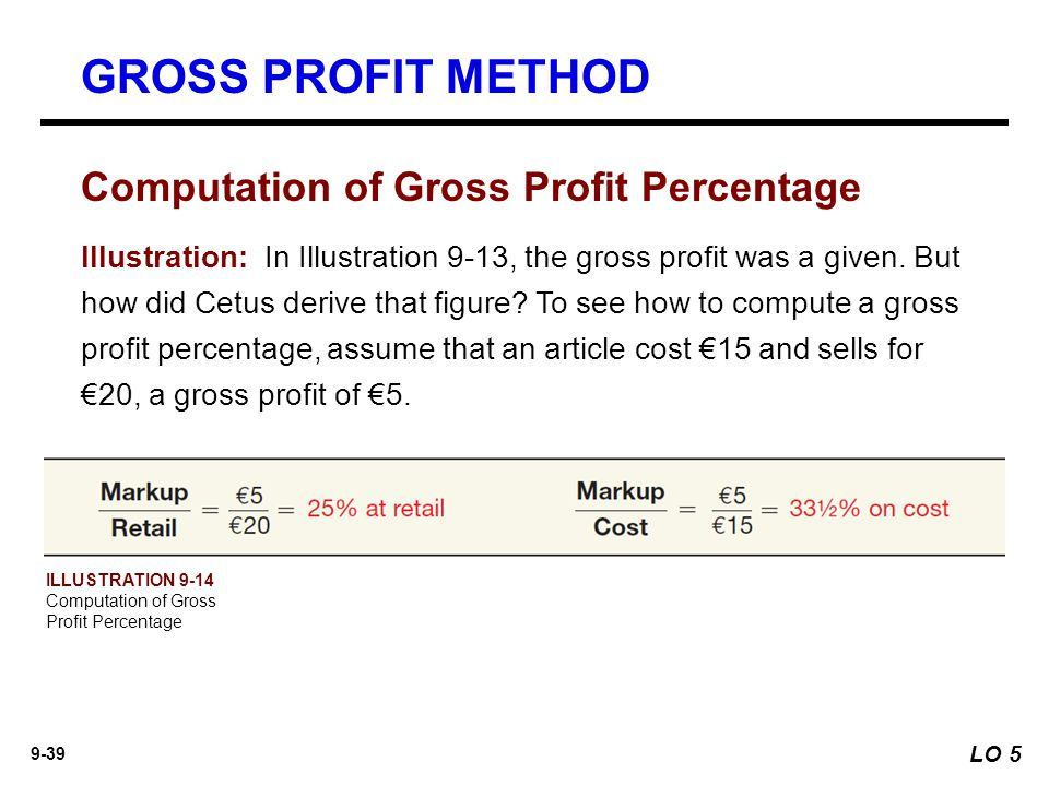 how to find gross profit percentage
