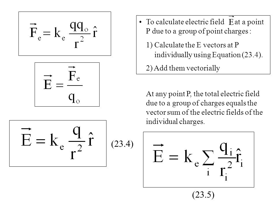 To+calculate+electric+field+at+a+point+P