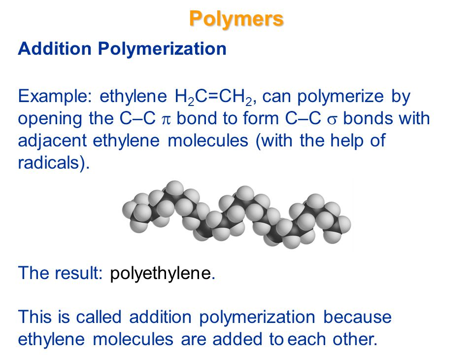 Polymers Addition Polymerization