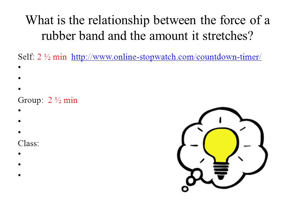 the rubber band relationship theory