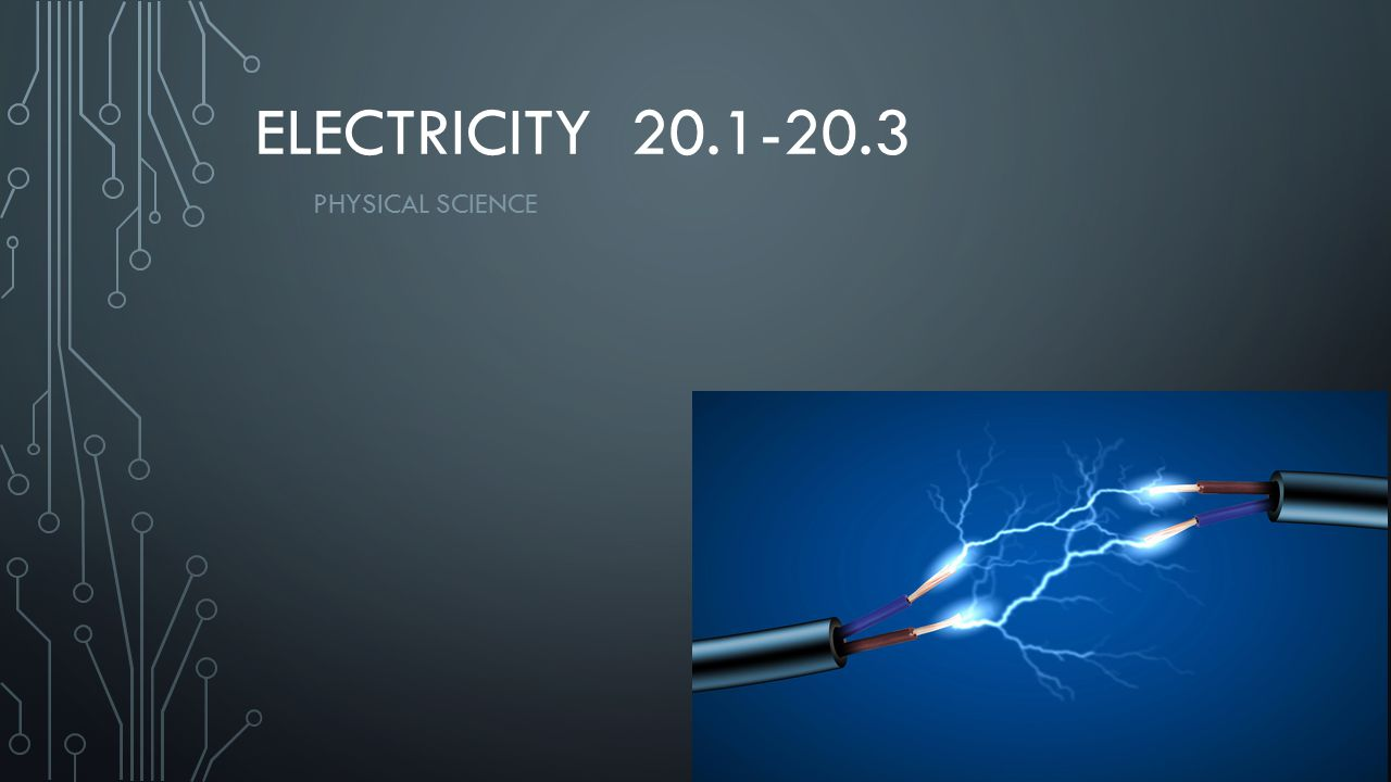 Electricity 20.1-20.3 Physical Science