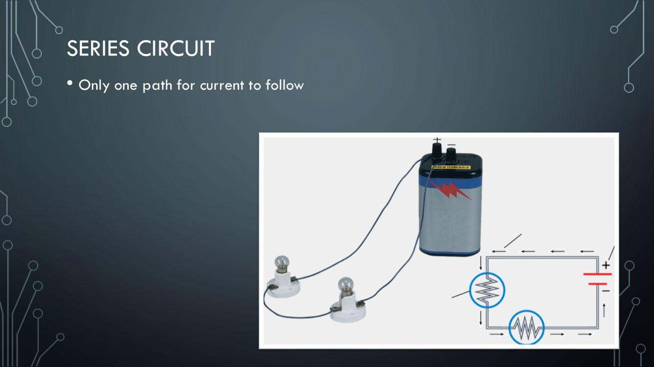 Series Circuit Only one path for current to follow