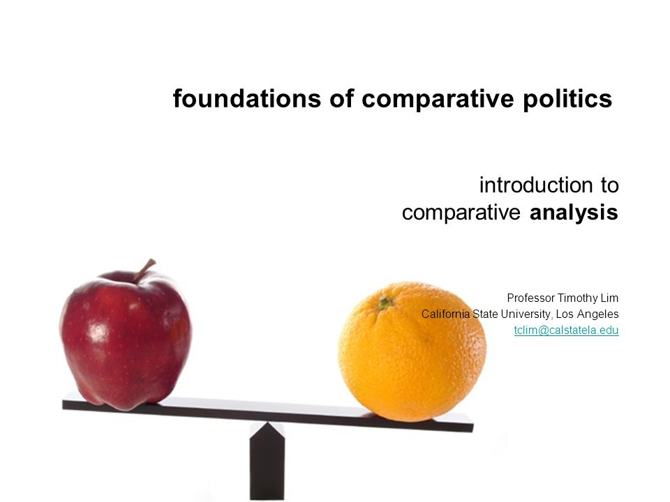how to study comparative politics