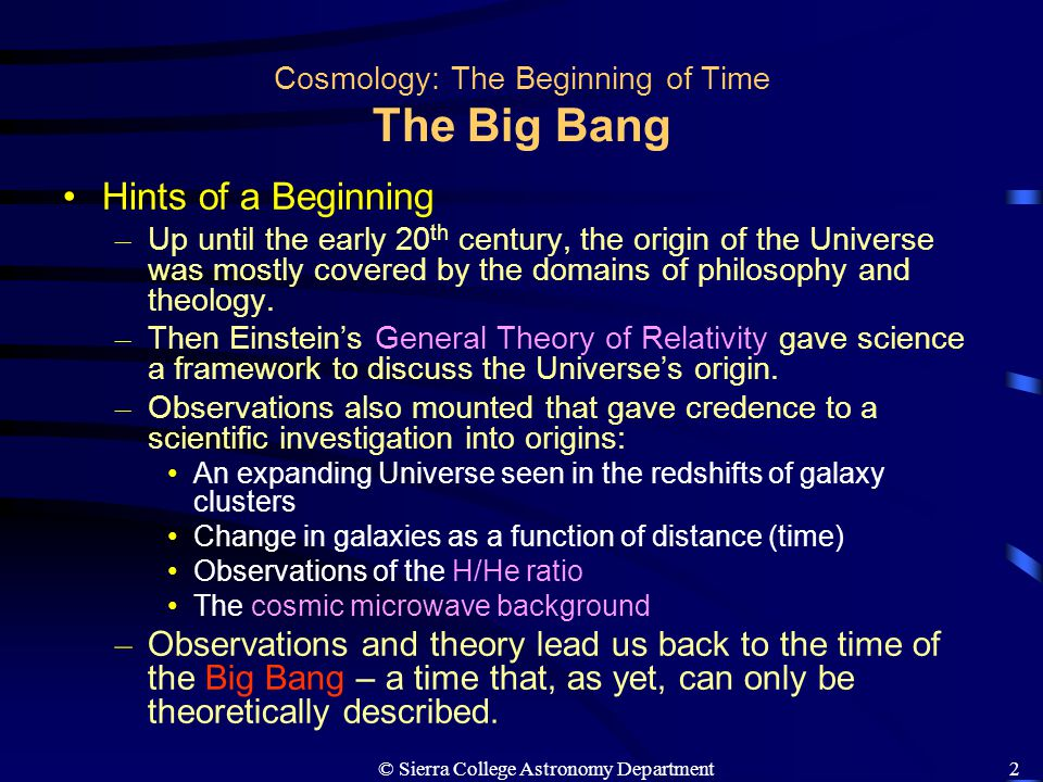 the origin of philosophy and cosmology Cosmology is the study of the universe as a whole and its history since the beginning our understanding of this history is undergoing a revolution with fields as diverse as high energy physics and astronomy converging in both theory and experiment.