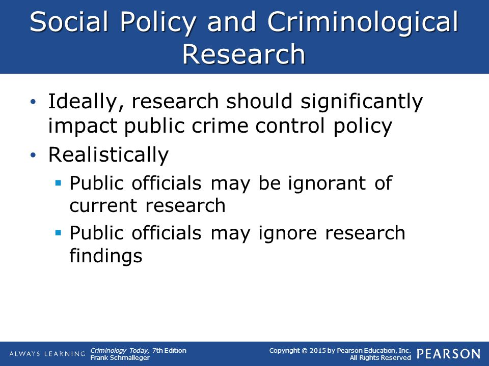 public policy implications of criminological theories 1 understanding women in prison: a review of gender specific needs and risk assessments and their policy and research implications by elise barlow.