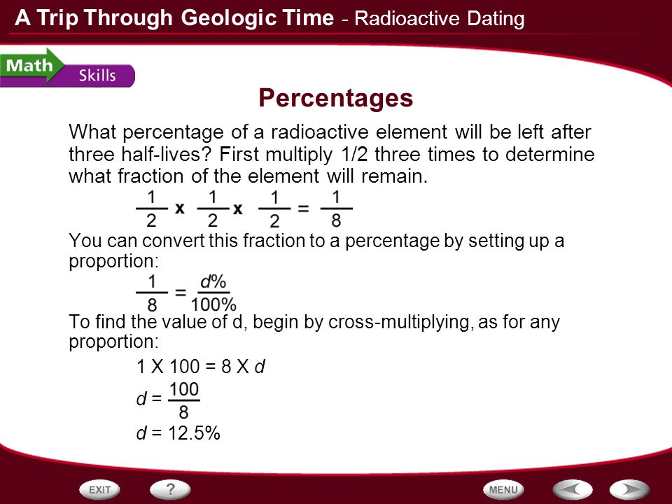Dating rocks with radioactivity was first performed by