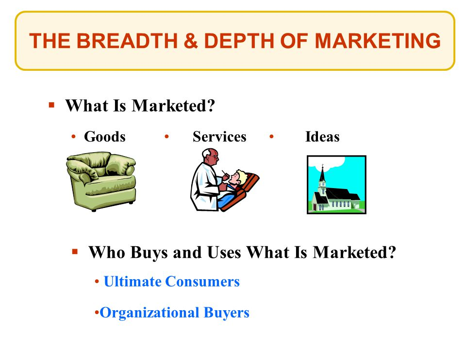 THE BREADTH & DEPTH OF MARKETING