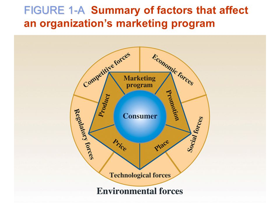 FIGURE 1-A Summary of factors that affect an organization's marketing program