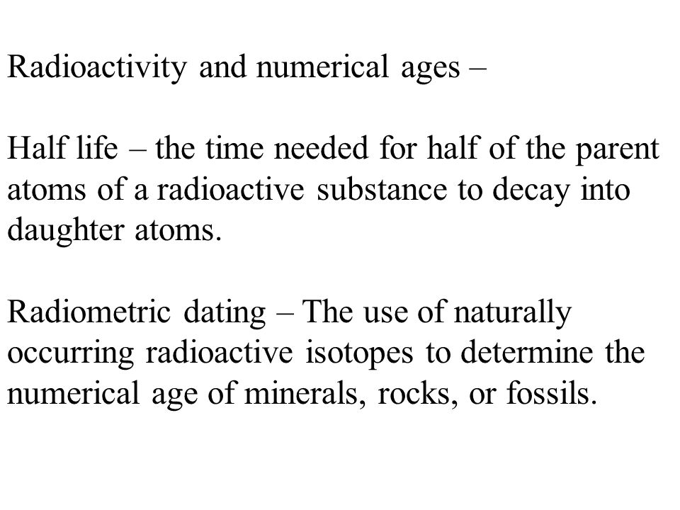 How is radiometric dating used to find the age of fossils