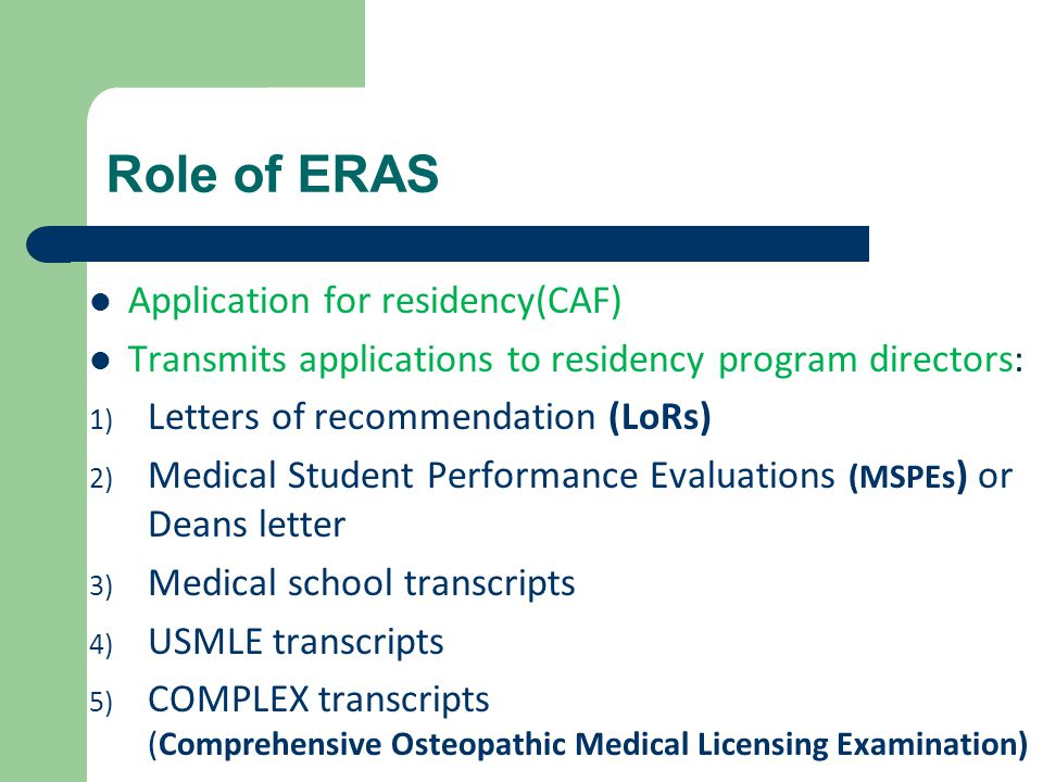 Getting into residency seminar ppt video online download role of eras application for residencycaf spiritdancerdesigns Images