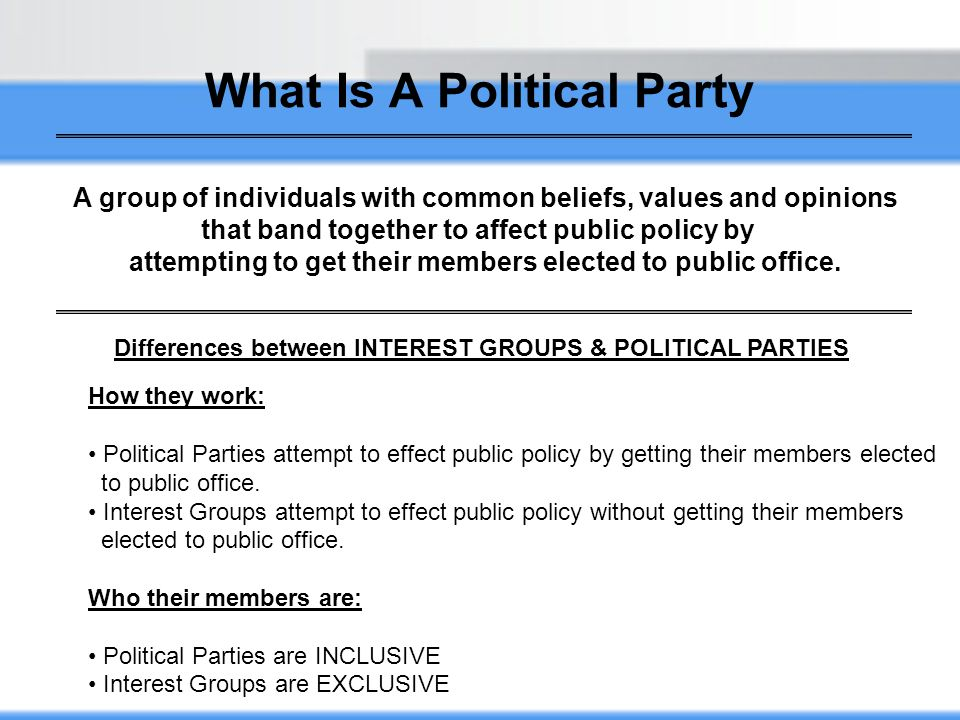 Printable Worksheets political party worksheets : Chapter Eleven Political Parties - ppt video online download